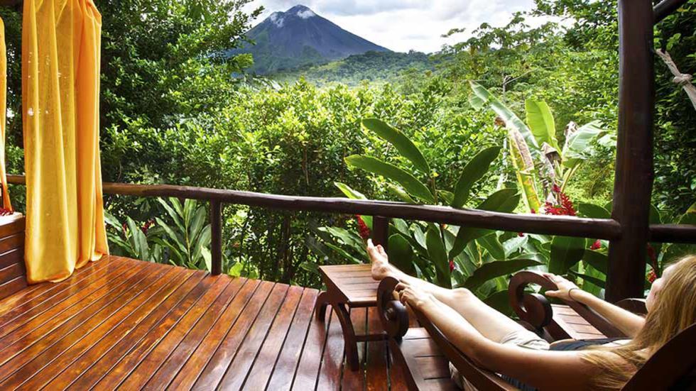 mejores hoteles del mundo Nayara Hotel, Spa & Gardens vista volcán Arenal