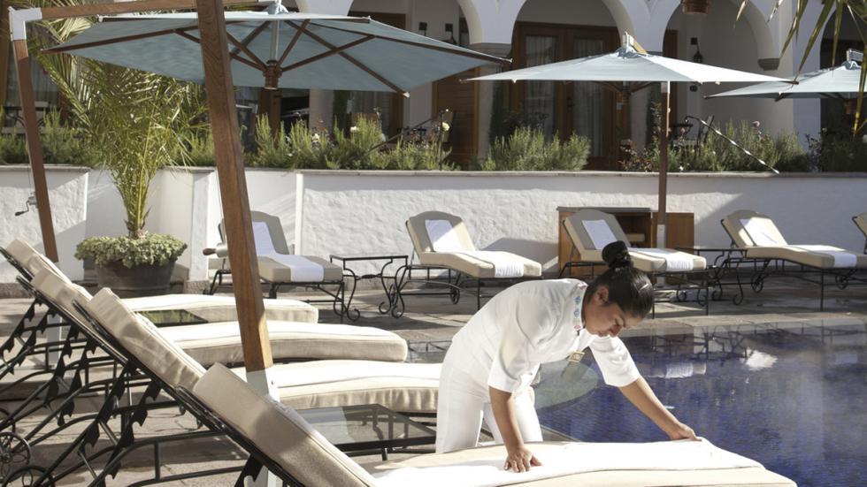 mejores hoteles del mundo Belmond Palacio Nazarenas piscina
