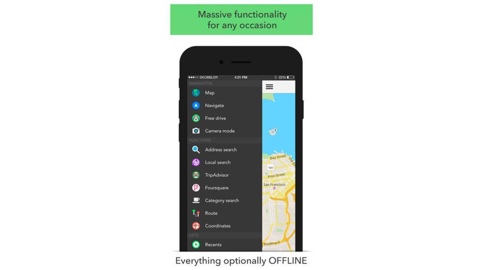 Cinco app que debe tener todo amante de los coches - Skobbler opciones