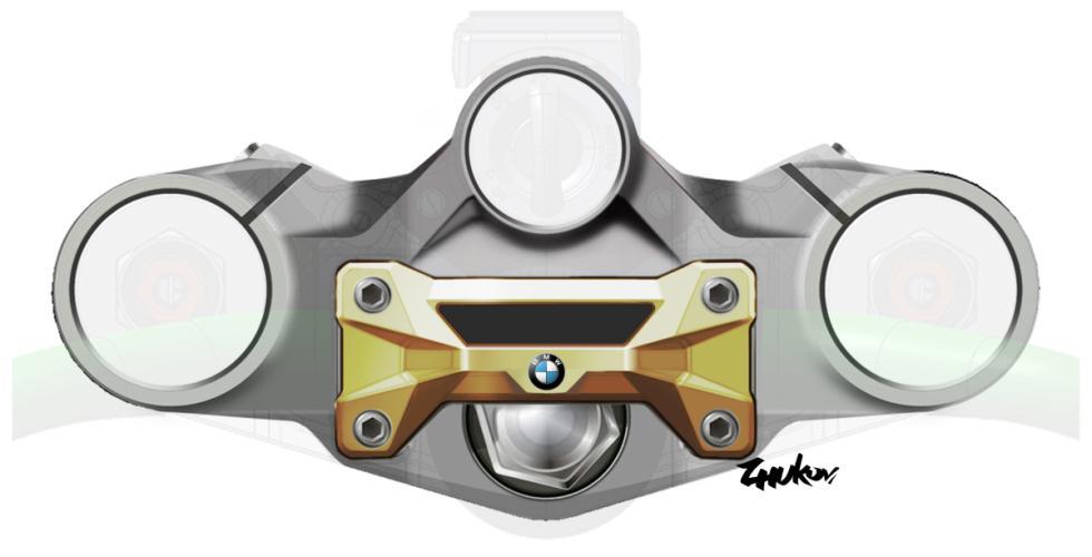 BMW S1000R, esquema de la tija.