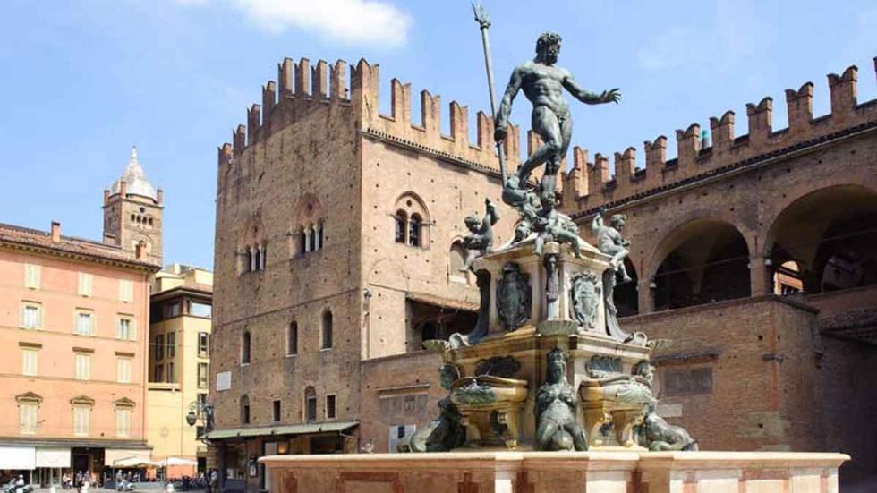 Fuente de Neptuno, en Bolonia.
