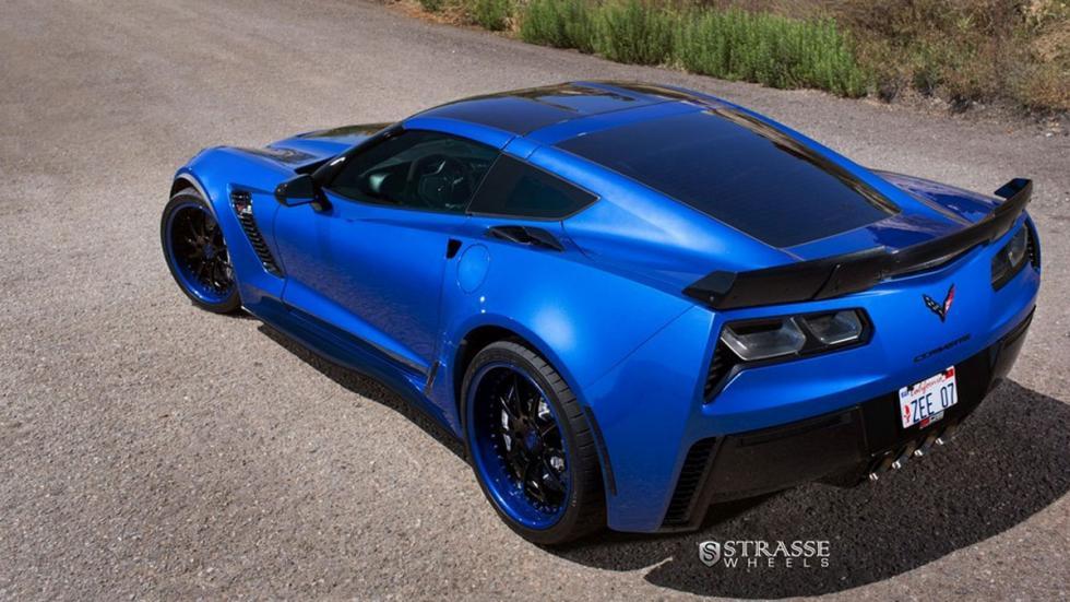 Corvette Z07 Blue Jet trasera