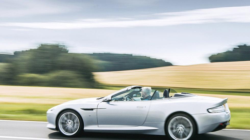 Prueba: Aston Martin DB9 GT Roadster. Un cabrio para soñar lateral dinámica