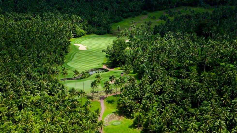 Campo de golf en la isla de Laucala