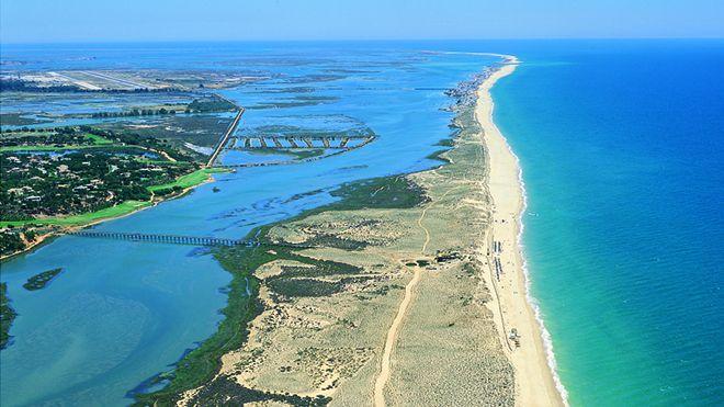 Vista aérea del Algarve.