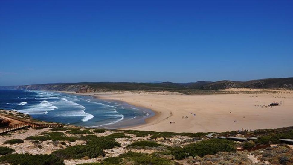 Una de las playas del Algarve portugués.