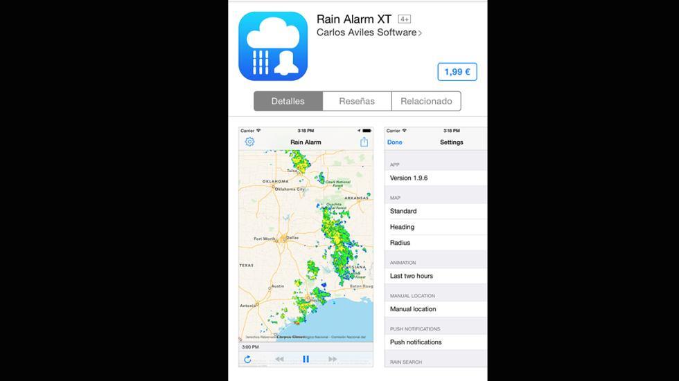 app, rain alarm