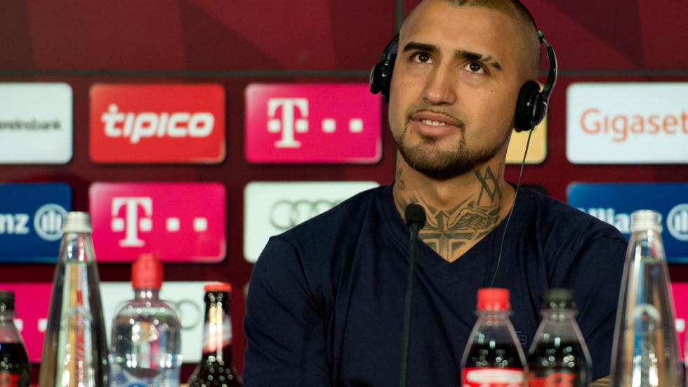 Arturo Vidal no conducirá en Múnich (de momento). Rueda de prensa Bayern 2.