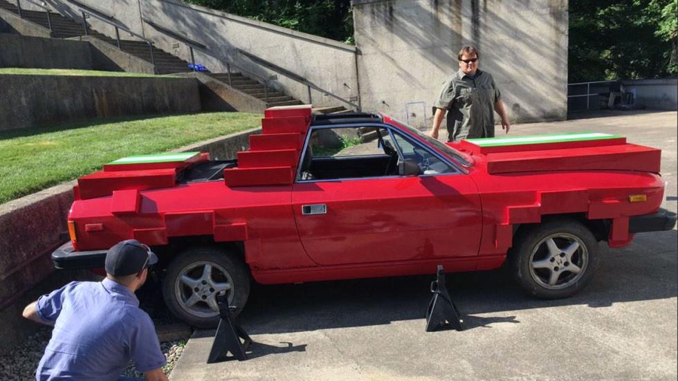 Lancia Beta Spider pixelado lateral