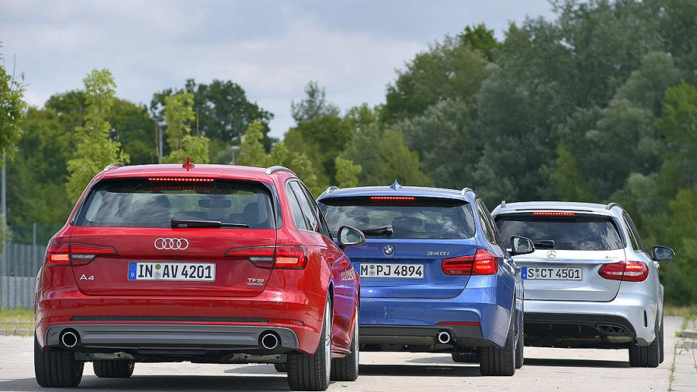 BMW Serie 3 Touring vs. Audi A4 Avant vs. Mercedes C Estate zagas