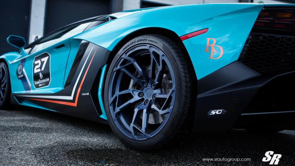 Lamborghini Aventador SR llanta trasera futurista