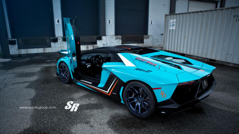 Lamborghini Aventador SR cenital