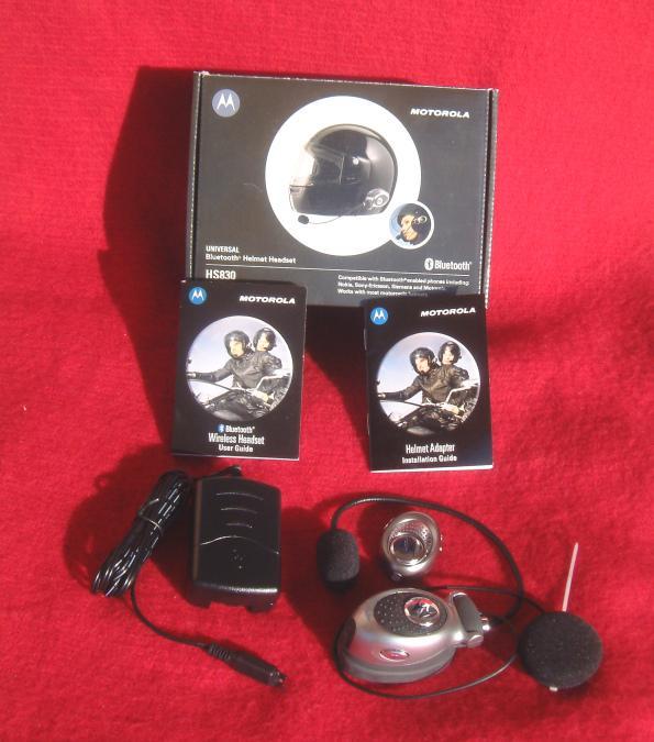 Cascos y  Bluetooth  externo. Kit de instalación.