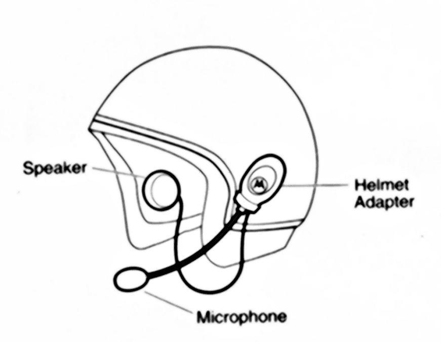 Cascos y  Bluetooth. Esquema en un casco abierto.