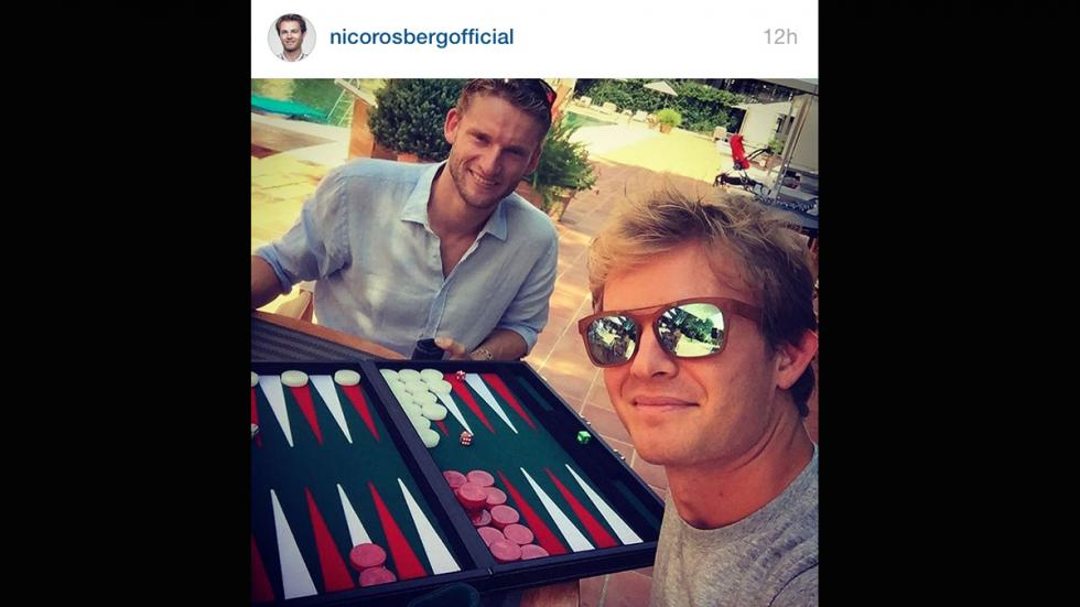 Nico Rosberg Backgammon amigos instagram