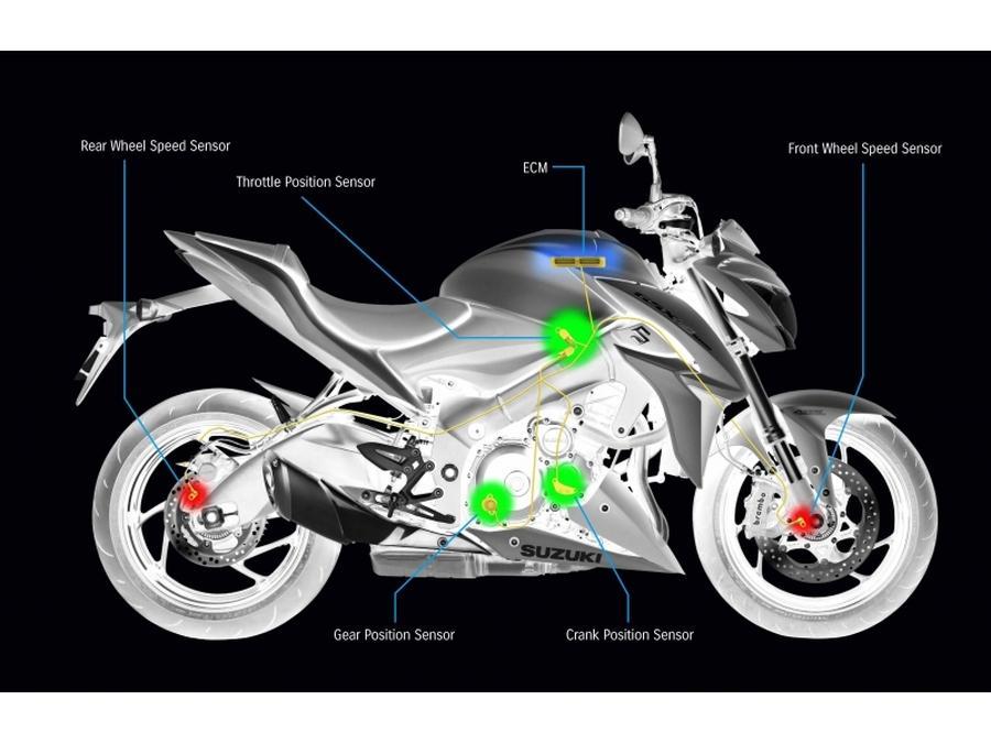 Suzuki GSX-S1000. Detalles del sistema de sensores y electrónica.