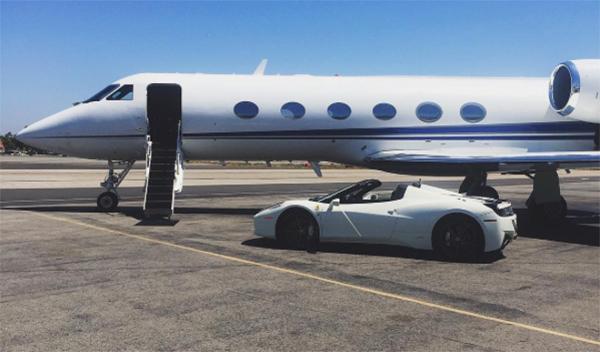 Ferrari 458 Spider de Kylie Jenner