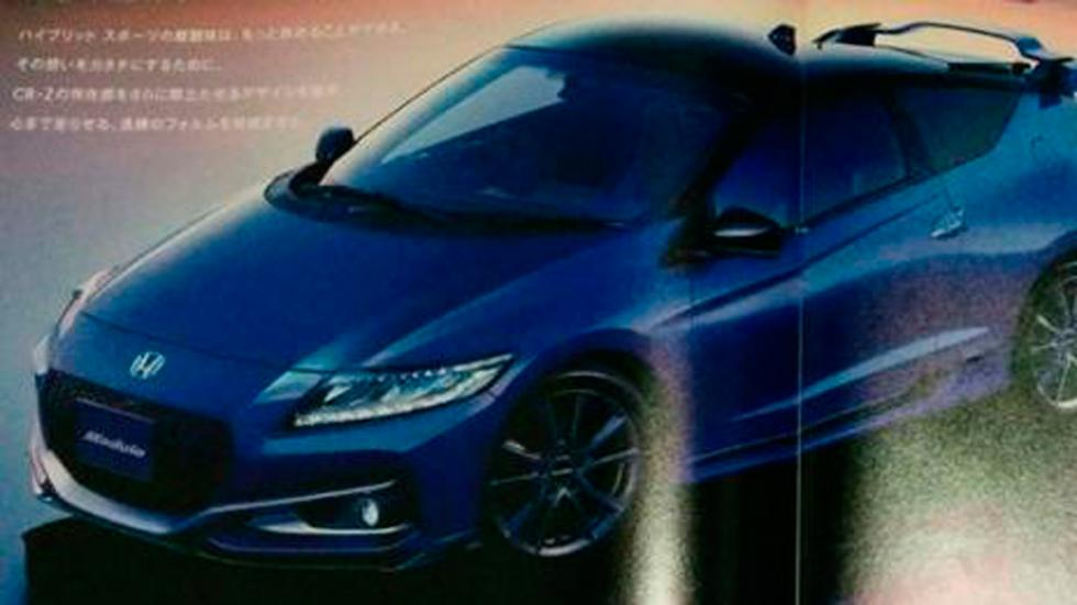 Honda CR-Z facelift azul frontal