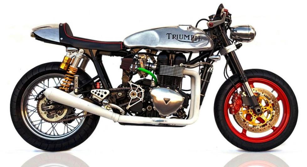 Triumph Thruxton 904S by Deus Ex Machina perfil.