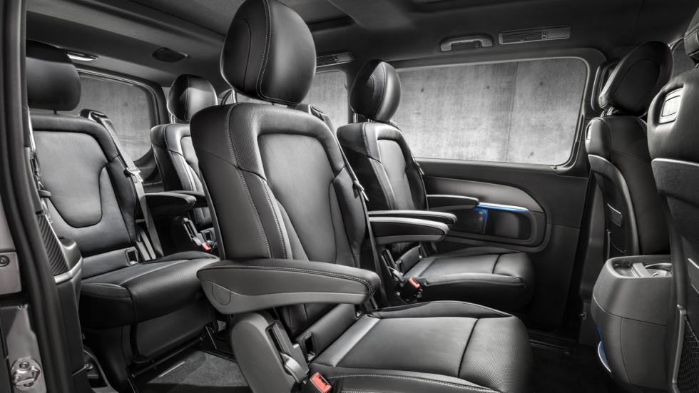 Mercedes Clase V AMG Line asientos traseros