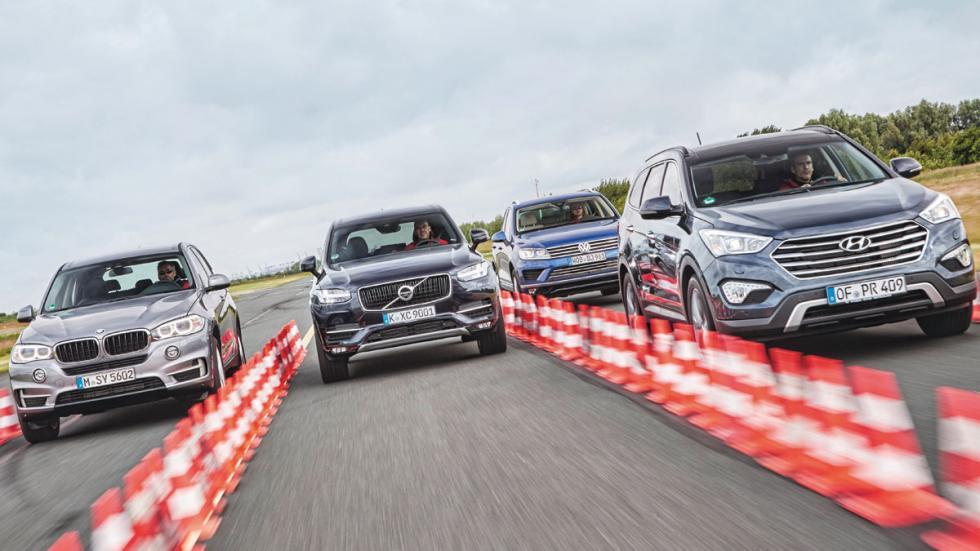 Comparativa Volvo XC90 contra rivales frontales