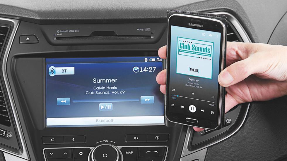 Hyundai Grand Santa Fe conectividad