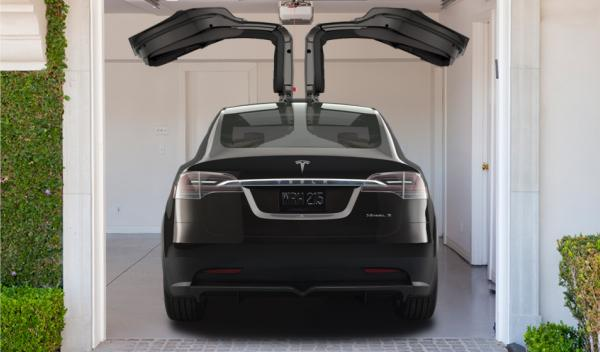 Tesla Model X trasera