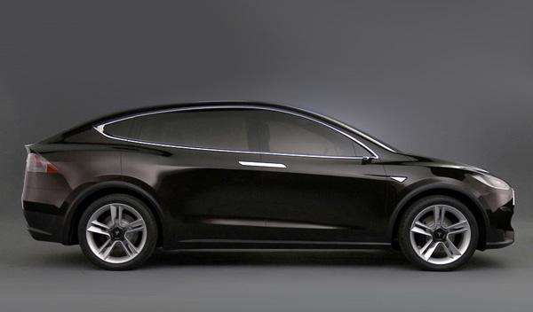 Tesla Model X perfil
