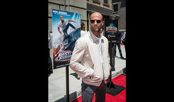 Jason Statham en la presentación de la nueva atracción de 'A todo gas'