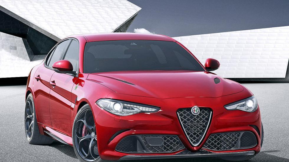 Alfa Giulia lateral llanta 3 cuartos