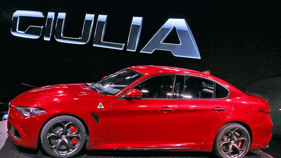 Alfa Giulia lateral llantas