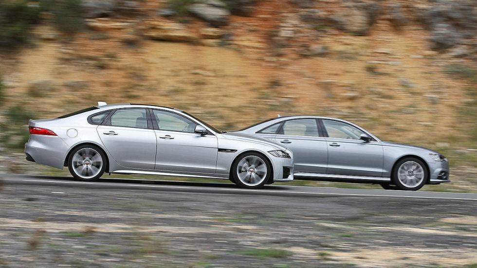 Comparativa: Jaguar XF vs Audi A6. Dos berlinas de altura. Barridos