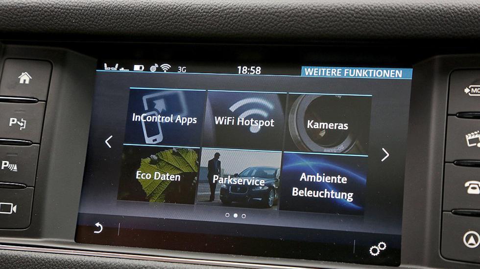 Jaguar XF pantalla