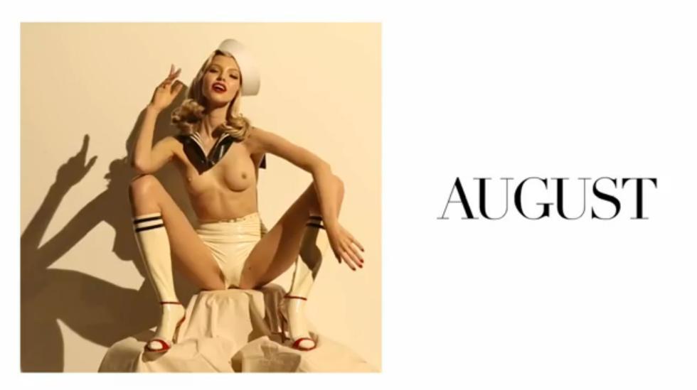 Sasha Luss agosto Calendario Pirelli 2015