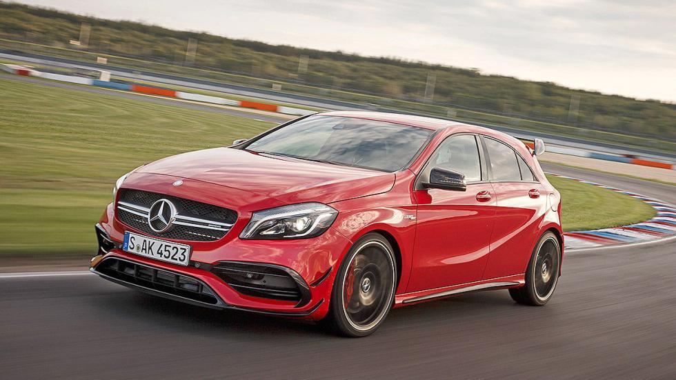 Prueba extrema: Mercedes-AMG A 45 4MATIC  detalle faros