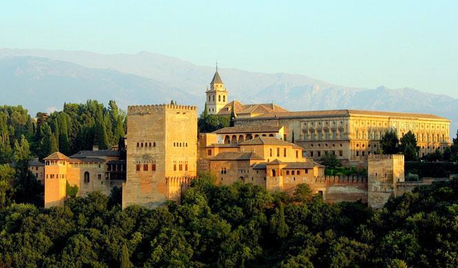 Vista de la Alhambra, en Granada.