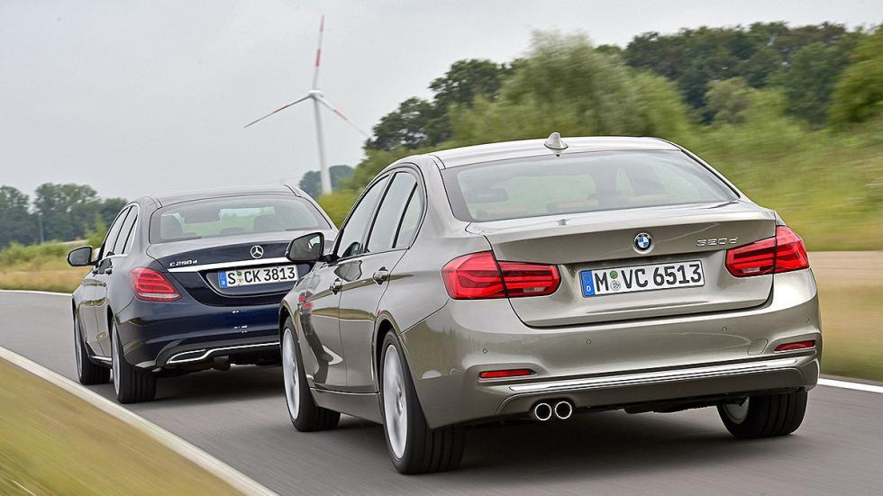 Cara a cara: nuevo BMW Serie 3 vs Mercedes Clase C. Zagas