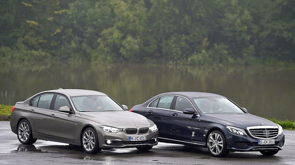 Cara a cara: nuevo BMW Serie 3 vs Mercedes Clase C. Estáticos