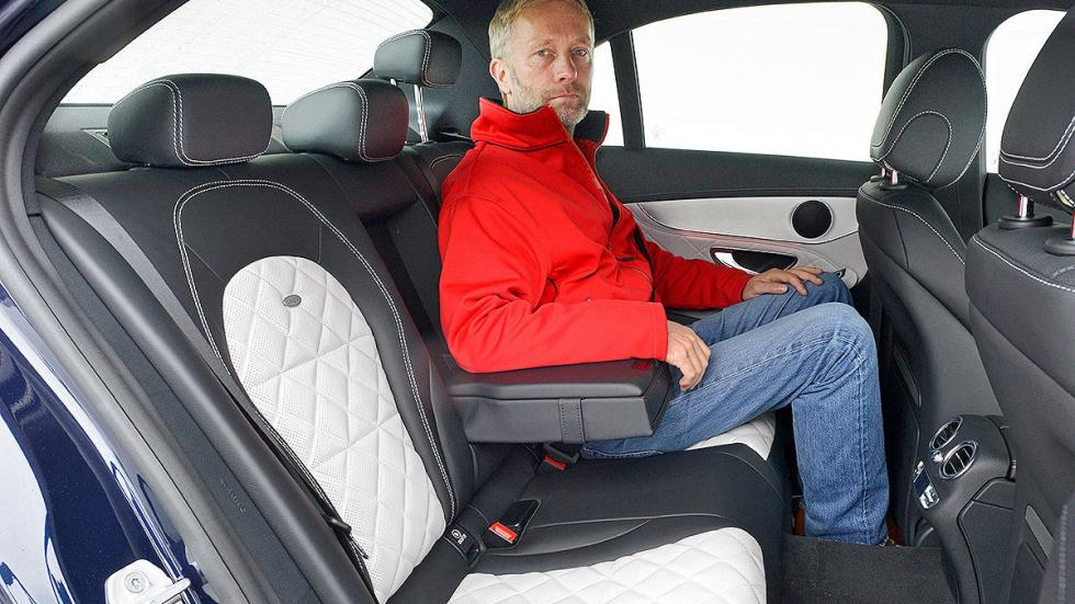 Mercedes Clase C detalle interior traseras