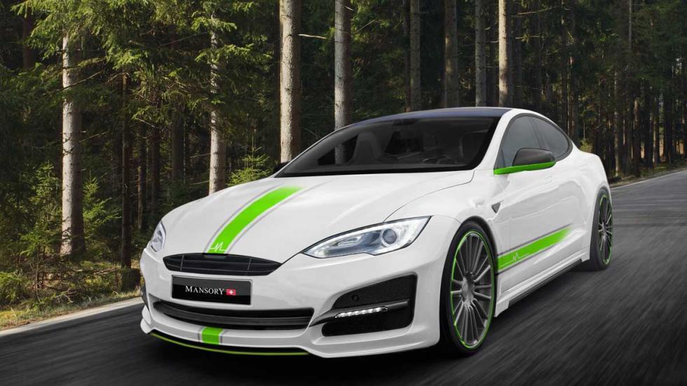 Mansory Tesla Model S tres cuartos delantero
