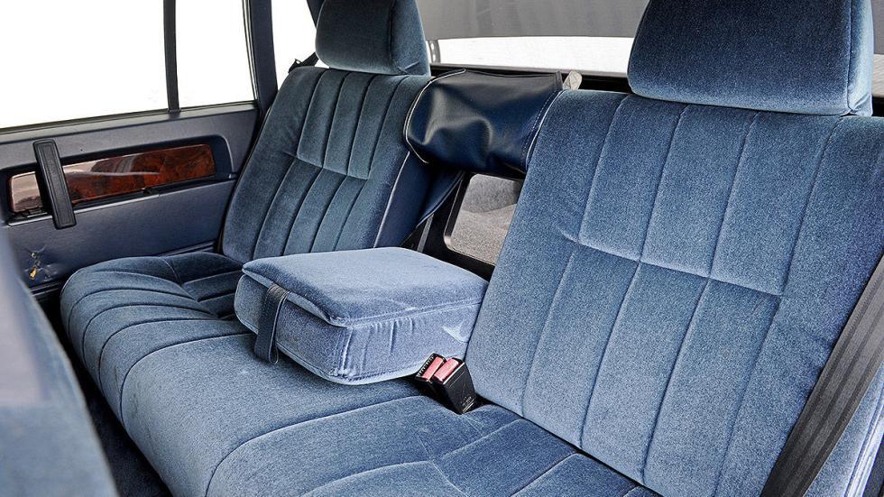 Volvo 760 detalle interior traseras