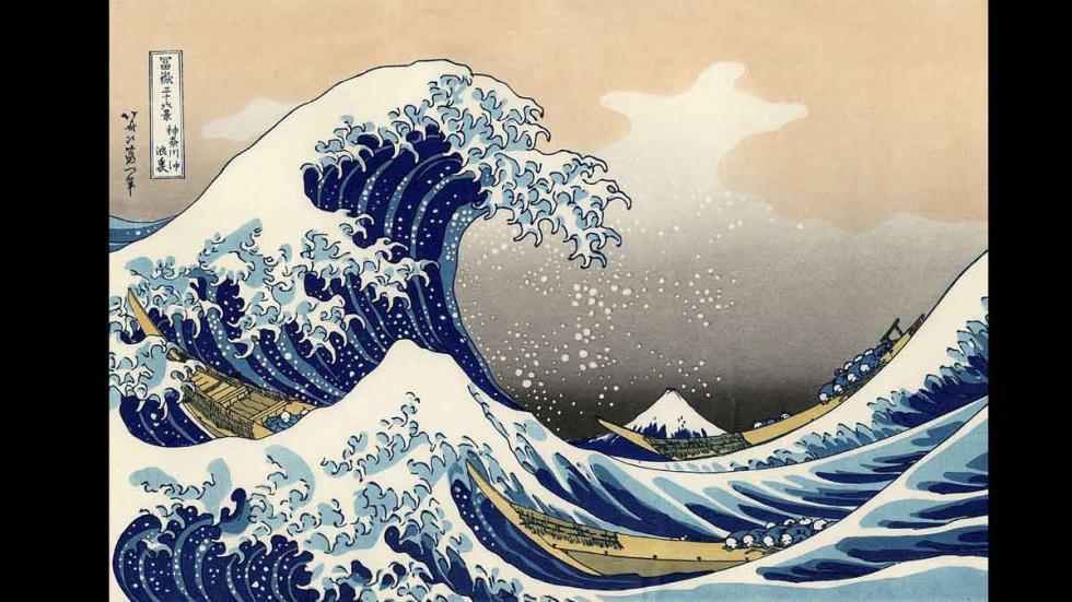 'La gran ola de Kanagawa' por Katsushika Hokusai
