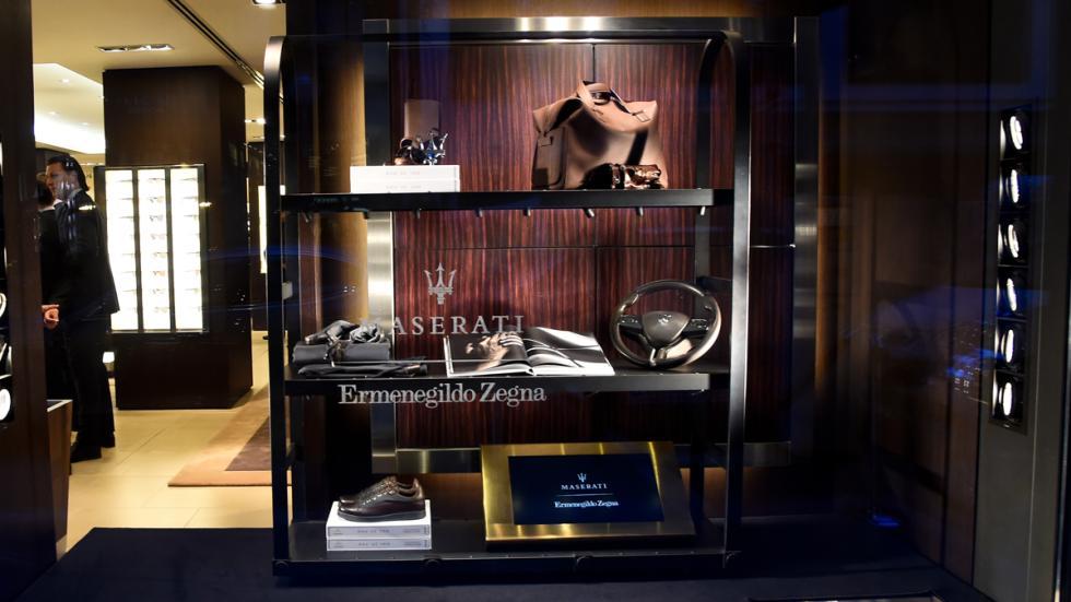 Muestra parte de la colección Zegna y Maserati