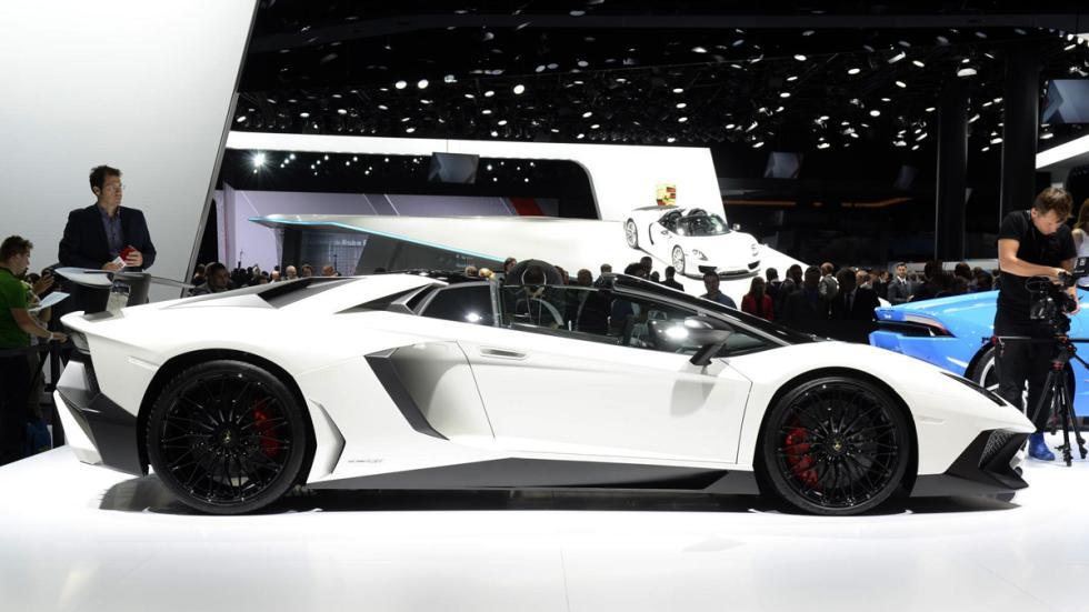 Salón de Frankfurt 2015 caros lamborghini aventador sv roadster lateral