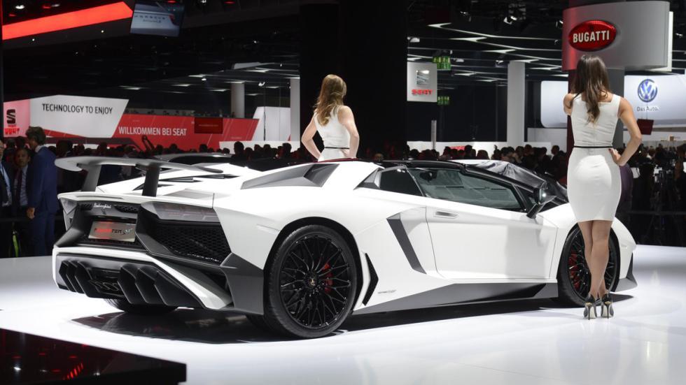 Salón de Frankfurt 2015 caros lamborghini aventador sv roadster trasera
