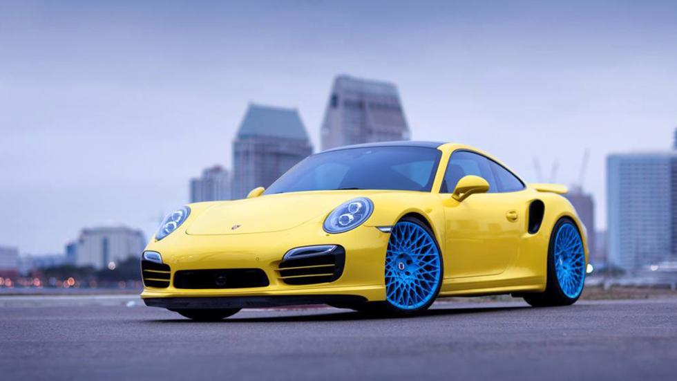 Porsche 911 Turbo HRE amarillo azul
