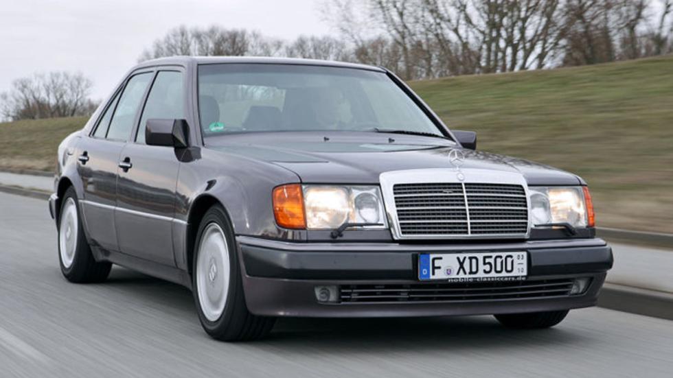 Prueba del Mercedes 500 E: más Porsche que Mercedes morro