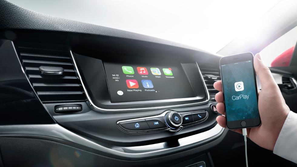 Apple CarPlay opel astra 2016