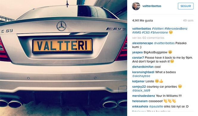 Valtteri Bottas Mercedes C63 AMG