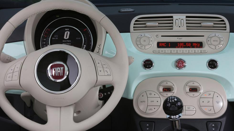 multiples opciones de interiores del Fiat 500